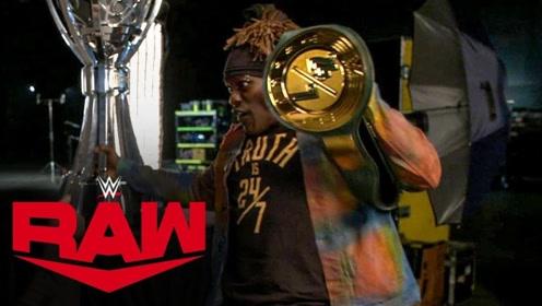【RAW1384期】纳斯卡冠军夺金腰带开心过头 一不留神被套路肠子悔青