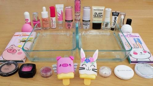 用粉色与白色化妆品给透泰染色,无硼砂,你喜欢哪一个