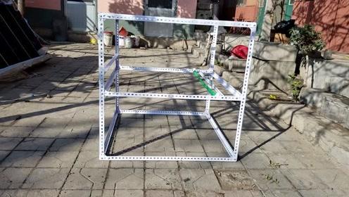 花300块钱做的鸟笼子,这个笼子养狗都跑不了,绝对够结实面积大