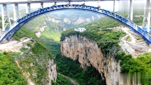 航拍中国最大跨度转体拱桥,成贵高铁西溪河大桥,太神奇,太壮观!