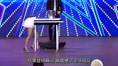 只有半个身子的美女,登台瞬震撼观众,然而这还不是最牛的