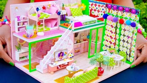 创意微型制作:搭建漂亮现代别墅