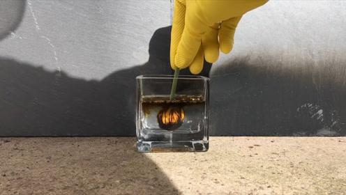 小哥为测试化学物质,直接将硫酸洒在手上,结果出人意料!