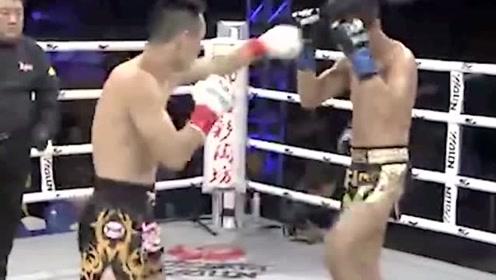 多角度镜头展现这个将人KO的直拳,好硬的拳头