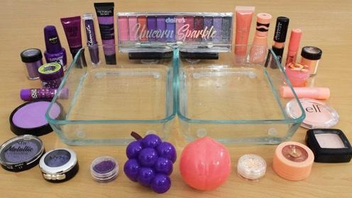 小姐姐用紫色与桃色化妆品给透泰染色,无硼砂,你喜欢哪一个