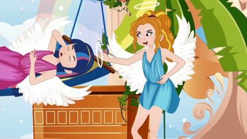 天使掉落人间,一瞬间变为贫穷女孩,王子路过将她带回城堡!