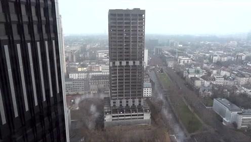 几声巨响过后,大厦瞬间夷为平地,这就是定向爆破