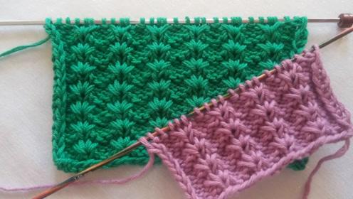 毛线编织-碎花图案的简单织法