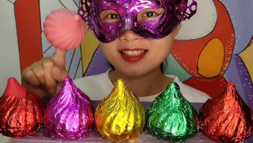 """妹子吃创意""""洋葱空心巧克力"""",尖头螺旋好可爱"""