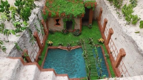 男子徒手打造花园小屋,建成的那一刻,网友:我也想住进去!