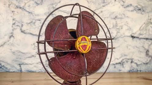 小伙花20块收购100年前电风扇,翻新后,转手卖10万块!