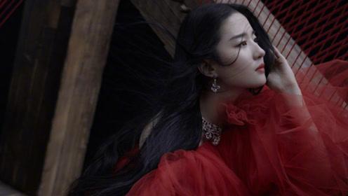 刘亦菲木兰主题大片红裙高马尾太绝了 鼓点声配上眼神杀是神仙姐姐本人了