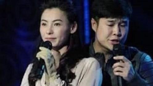 张柏芝台上演唱,胸口扣子意外崩开,小沈阳的手谁注意到了?