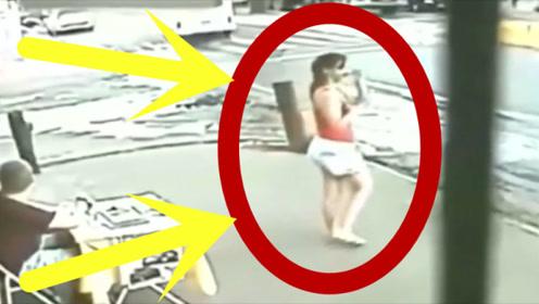妙龄少女正准备上班,不料走到路口一看当场吓懵了!