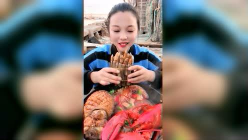 海鲜吃播:竹节蛏