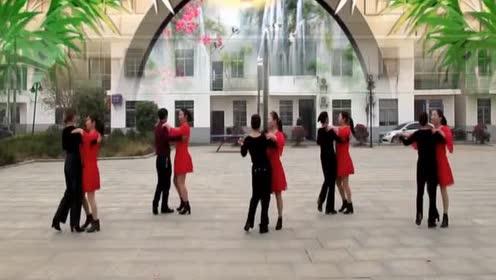 32步广场舞《半月湾》双人对跳交谊舞!经典舞步!简单好跳