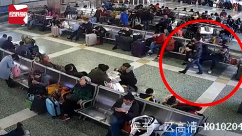 男子在南宁火车站内强行乞讨,被拒后竟划坏旅客手机