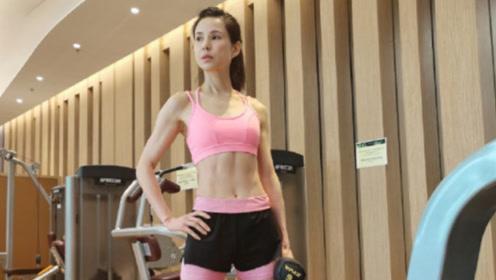 李若彤穿粉红bra健身 下腰做拱桥大秀马甲线小蛮腰