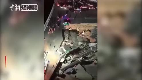 厦门地铁2号线吕厝站附近发生地面坍塌