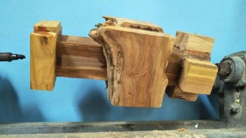 农村到处都有的木头,看老师傅能做出什么东西?成品你能猜到吗?