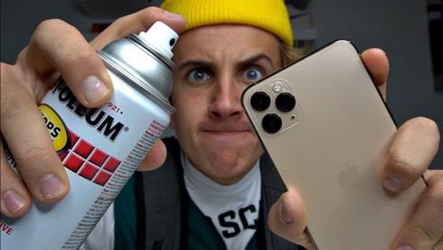 新买的iphone 11太丑?牛人动手改造手机背壳,成品艺术感十足!