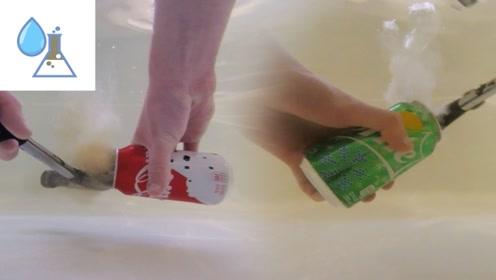 老外在水下打开可乐,下一秒场面根本hold不住,仔细瞧瞧了