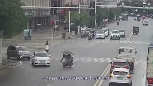 女司机道路上随意变道!转弯让直行不知道吗?真是让人无话可说