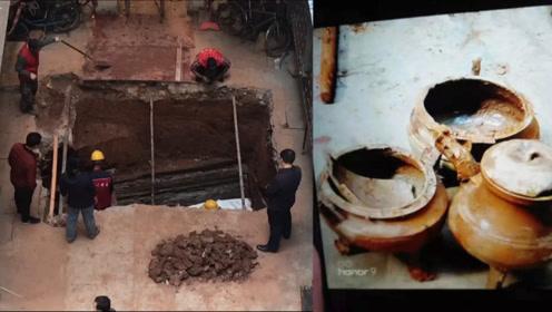 宝藏校区!广州工业大学东风路校区加装电梯时 发现一处汉代古墓