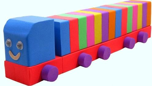 太空沙也太好玩了吧!动手做一个逼真小火车,小孩益智大人解压