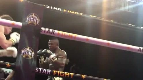 现场近距离观看泰拳王播求的比赛,他的拳腿力量十足,对手快撑不住了!