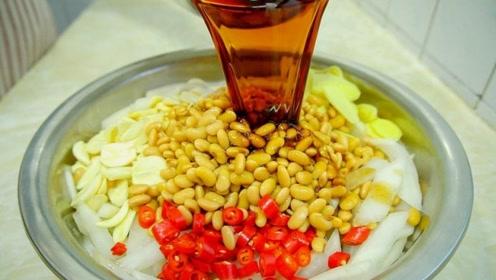 6斤萝卜1斤黄豆,过年必备的小菜,开胃又解腻,做一顿吃半月