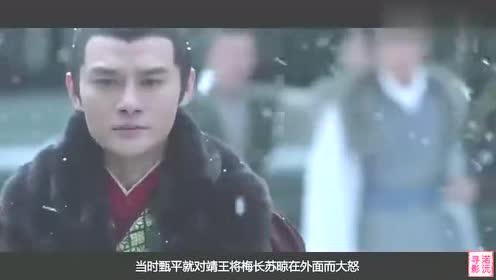 琅琊榜:靖王探望梅长苏,没想到甄平还记仇,一句话说得靖王无语