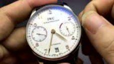 万国葡七机械表怎么用,IWC机械表调时间和上发条使用说明
