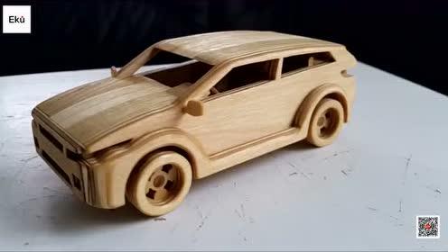 DIY 手工打造木制路虎极光玩具车