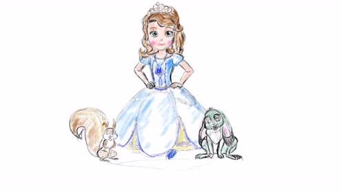 小公主苏菲亚怎么画-宝贝计画儿童美术创意画课程