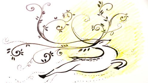 如何画画圣诞涂鸦圣诞老人的雪花鹿和设计师妈妈一起快乐手工绘画
