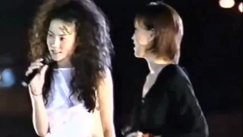 王菲与那英合唱《同桌的你》Live,第一句就好听到哭