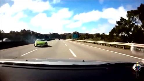 当场成渣了!兰博基尼Huracan狂飙300码失控撞车