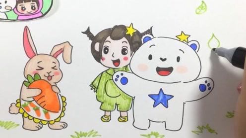 可乐姐姐学画画-小云熊,今天让我们一起过生日吧!