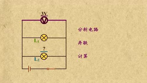 初中物理九年级 并联电路的电压计算