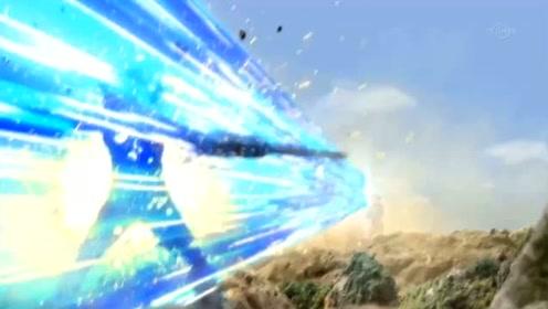 艾克斯奥特曼使用哥莫拉装甲,一人对战四头怪兽