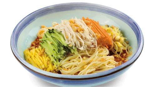 美食食谱,美食达人教你五彩柠汁凉面做法,营养美味食谱