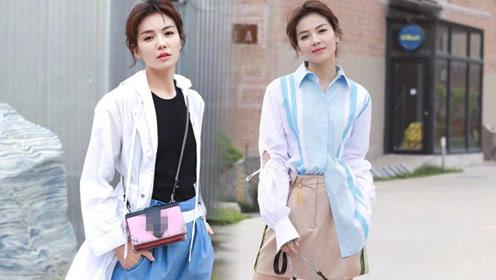 40岁刘涛最新街拍穿出少女风 粉色系夏装甜美动人活力十足!