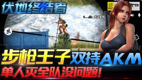 伏地终结者09:步枪王子双持AKM,单人灭全队没问题!