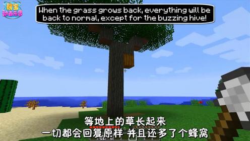 我的世界教程 教你造一个超逼真的蜂窝