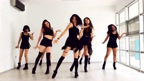 满屏都是大长腿 土耳其长腿美女D.Fi翻跳CLC《Black Dress》