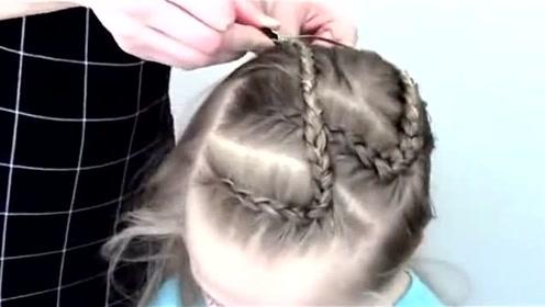 儿童极简刘海编发发型二款,发量少的小朋友很合适哦