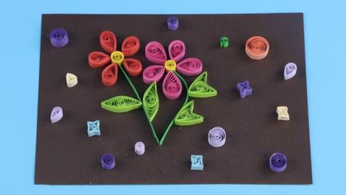 一起做漂亮的衍纸花吧 手工DIY教学