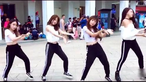 台湾高颜值小姐姐街边舞蹈 BLACKPINK《DDU-DU DDU-DU》