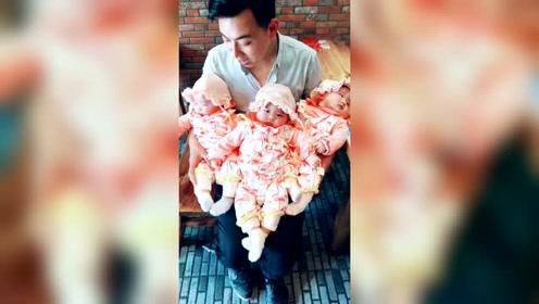 萌娃三胞胎:最幸福的男人,三千金捧在手心里!